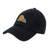Black Twill Unstructured Low Profile Hat-Lacrosse