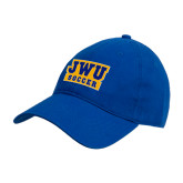 Royal Twill Unstructured Low Profile Hat-JWU Soccer