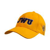 Gold Heavyweight Twill Pro Style Hat-JWU