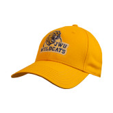 Gold Heavyweight Twill Pro Style Hat-JWU Wildcats