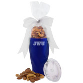 Deluxe Nut Medley Vacuum Insulated Blue Tumbler-JWU Engraved