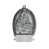 Pewter Tree Ornament-Wildcat Head Engraved
