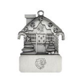 Pewter House Ornament-Wildcat Head Engraved