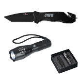 Swiss Force Knife/Flashlight Set-JWU Engraved