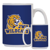 Full Color White Mug 15oz-JWU Wildcats