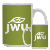 Full Color White Mug 15oz-Substainability Mark