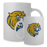 Full Color White Mug 15oz-Wildcat Head