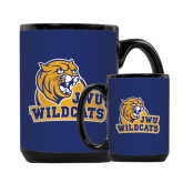 Full Color Black Mug 15oz-JWU Wildcats