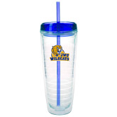 Tritan Double Wall Tumbler w/Blue Top 26oz-JWU Wildcats