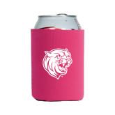 Neoprene Hot Pink Can Holder-Wildcat Head