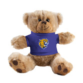Plush Big Paw 8 1/2 inch Brown Bear w/Royal Shirt-Wildcat Head