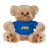 Plush Big Paw 8 1/2 inch Brown Bear w/Royal Shirt-JWU