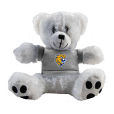 Plush Big Paw 8 1/2 inch White Bear w/Grey Shirt-Wildcat Head