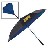 48 Inch Auto Open Black/Royal Inversion Umbrella-JWU