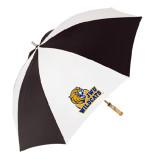 62 Inch Black/White Umbrella-JWU Wildcats