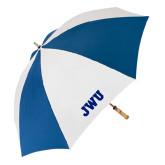 62 Inch Royal/White Umbrella-JWU