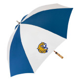62 Inch Royal/White Umbrella-Wildcat Head