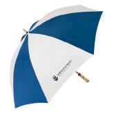 62 Inch Royal/White Umbrella-University Mark