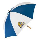 62 Inch Royal/White Umbrella-JWU Wildcats