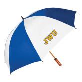62 Inch Royal/White Vented Umbrella-JWU