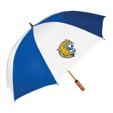 62 Inch Royal/White Vented Umbrella-Wildcat Head