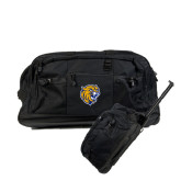 Urban Passage Wheeled Black Duffel-Wildcat Head