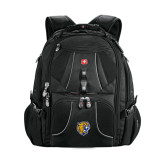 Wenger Swiss Army Mega Black Compu Backpack-Wildcat Head