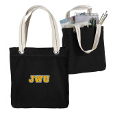 Allie Black Canvas Tote-JWU