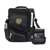 Momentum Black Computer Messenger Bag-Wildcat Head