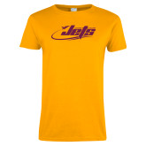 Ladies Gold T Shirt-Primary Mark