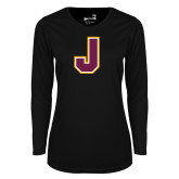 Ladies Syntrel Performance Black Longsleeve Shirt-J
