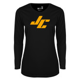 Ladies Syntrel Performance Black Longsleeve Shirt-Stylized JC