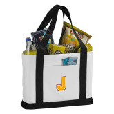 Contender White/Black Canvas Tote-J