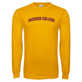Gold Long Sleeve T Shirt-Arched
