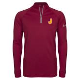 Under Armour Maroon Tech 1/4 Zip Performance Shirt-J