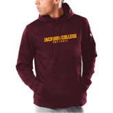 Under Armour Maroon Armour Fleece Hoodie-Softball