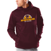 Under Armour Maroon Armour Fleece Hoodie-Soccer Half Ball
