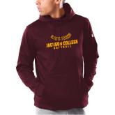 Under Armour Maroon Armour Fleece Hoodie-Softball Seams
