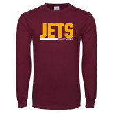 Maroon Long Sleeve T Shirt-Arched