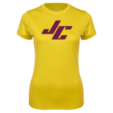 Ladies Syntrel Performance Gold Tee-Stylized JC