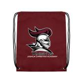 Maroon Drawstring Backpack-Primary Mark