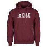 Maroon Fleece Hoodie-Dad