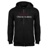 Black Fleece Full Zip Hoodie-Joshua Christian Academy