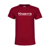 Youth Maroon T Shirt-Kinghts Joshua Christian Academy