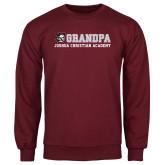 Maroon Fleece Crew-Grandpa