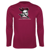 Performance Maroon Longsleeve Shirt-Primary Mark