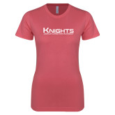 Next Level Ladies SoftStyle Junior Fitted Pink Tee-Kinghts Joshua Christian Academy