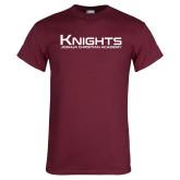 Maroon T Shirt-Kinghts Joshua Christian Academy