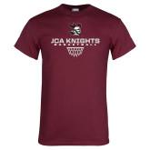 Maroon T Shirt-Basketball Sharp Net