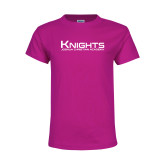 Youth Cyber Pink T Shirt-Kinghts Joshua Christian Academy